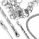 Цепочки и браслеты из серебра.