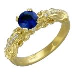 Кольца из из желтого золота