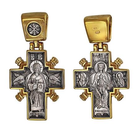 Крест нательный Царь царей.  Державная
