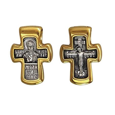 Крест нательный Свт. Николай Чудотворец Молитва 101.276