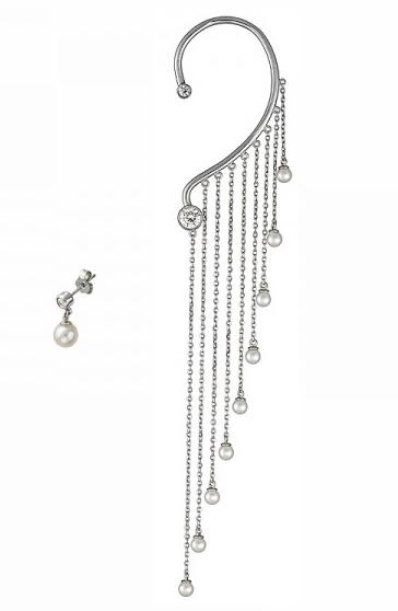 Серебряная серьга кафф 01С358063