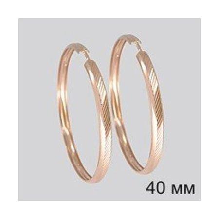 Серьги конго из золота с алмазной гранью SOKOLOV 140094