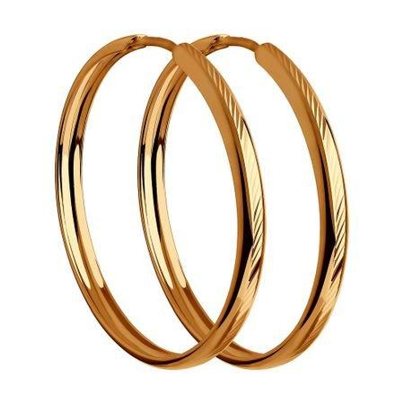 Серьги из золота с алмазной гранью SOKOLOV 140094-9