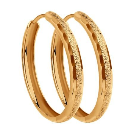 Серьги конго из золота с алмазной гранью SOKOLOV 140108