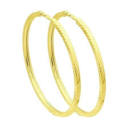 Серьги из желтого золота с алмазной гранью SOKOLOV 140046-2