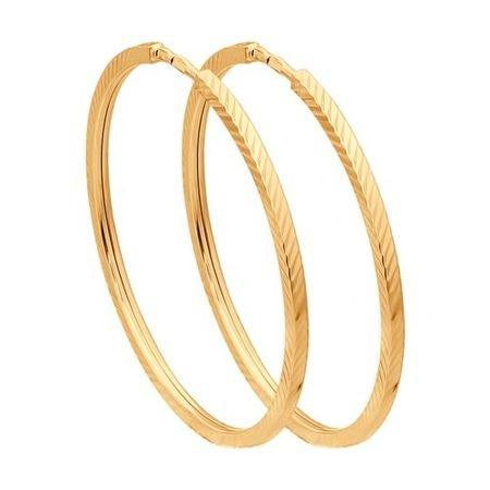 Серьги конго из золота с алмазной гранью SOKOLOV 140047