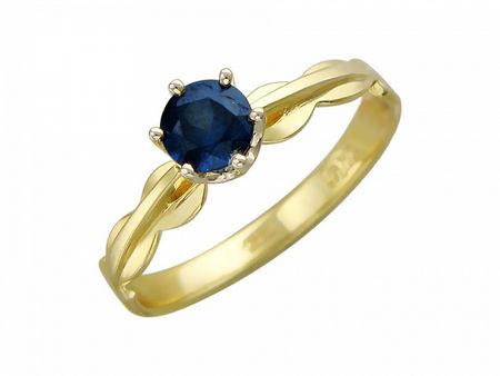 Кольцо с изумрудом из бело-желтого золота