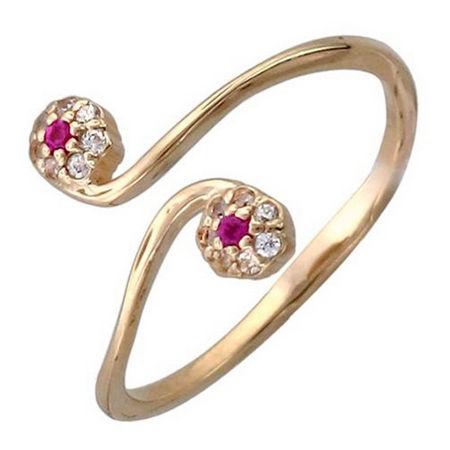 Кольцо с шпинелью из красного золота