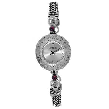 Часы Deno из серебра с гранатом 01W660GR