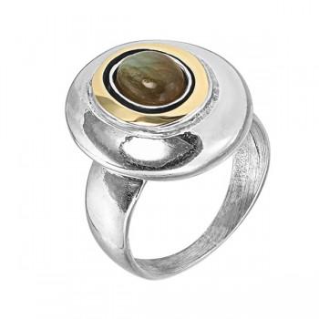 Кольцо Deno из серебра с лабрадором MVR1731GLB