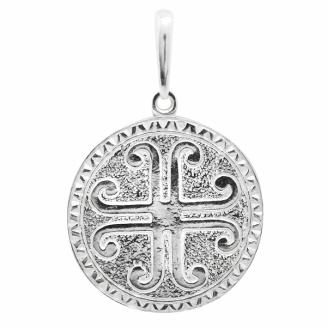 Серебряная подвеска-оберег Узор Утум ПO011