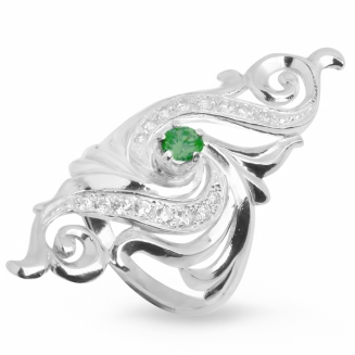 Серебряное кольцо Узор Утум K057-3