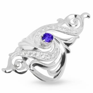 Серебряное кольцо Узор Утум K057-1