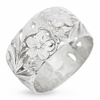 Серебряное кольцо Узор Утум K063