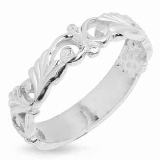 Серебряное кольцо Узор Утум K144