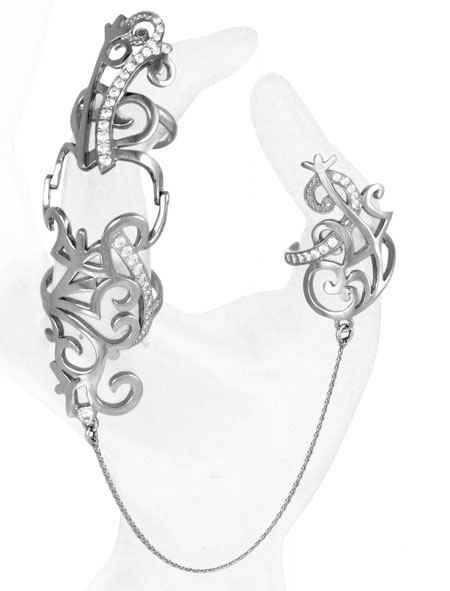 Серебряное кольцо Узор Утум K253