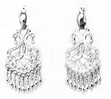 Серебряные серьги Узор Утум CH006