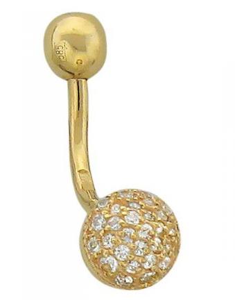 Пирсинг из золота с фианитами 01И130060
