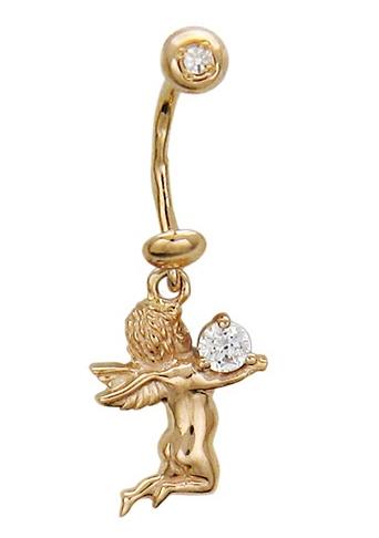 Пирсинг из золота с фианитами 01И110063