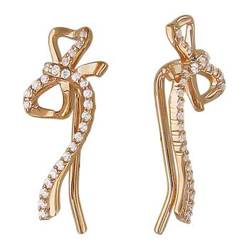 Золотые серьги Каффы Fashion Story 01С115655