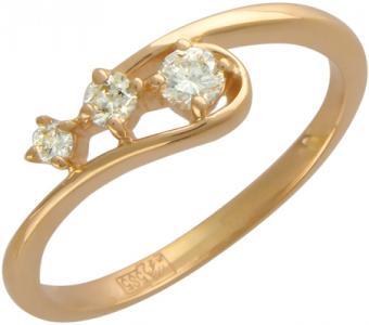 Золотое кольцо с бриллиантами 01К613663