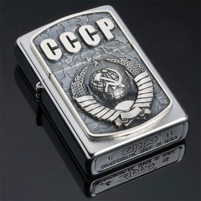 Зажигалка Zippo из серебра СССР