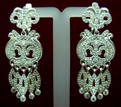 Серебряные якутские серьги Узор Утум CH136