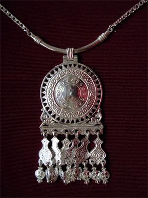 Колье из серебра Узор Утум L026