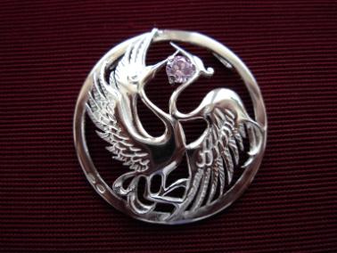 Серебряная подвеска Узор Утум P100