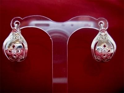 Серебряные якутские серьги Чоху Узор Утум CCH012