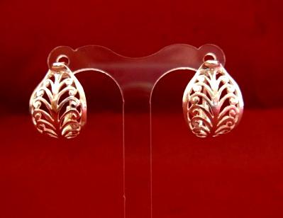 Серебряные якутские серьги Чоху Узор Утум CCH008