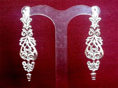 Серебряные якутские серьги Узор Утум CH181