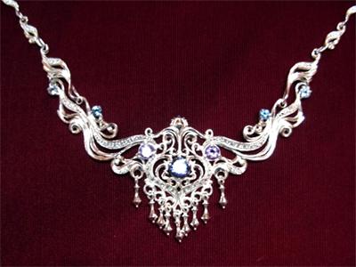 Серебряное якутское колье Узор Утум L046