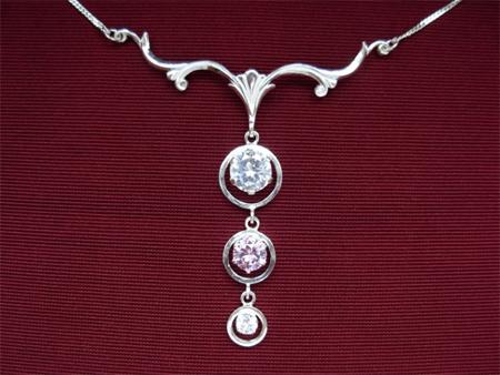 Серебряное якутское колье Узор Утум L047