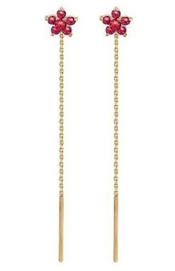 Серьги протяжки из золота 101С216164-1