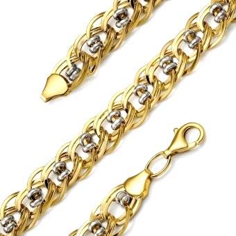 Золотой браслет полый 01Б012242Р