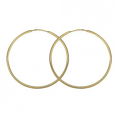 Серьги Конго из желтого золота 01С035683