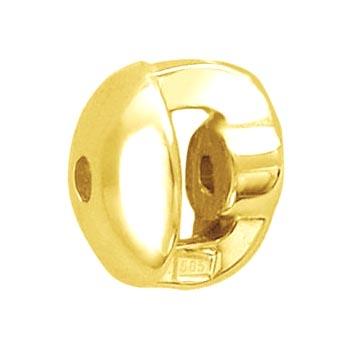 Закрутка для пусеты из желтого золота