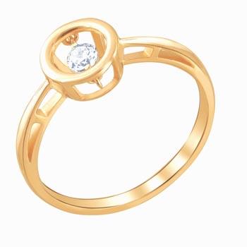 Кольцо золотое с фианитами 01К117960