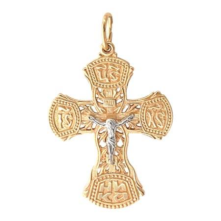 Крестик золотой нательный 01Р060733