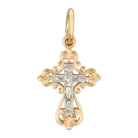 Крестик золотой нательный 01Р060734