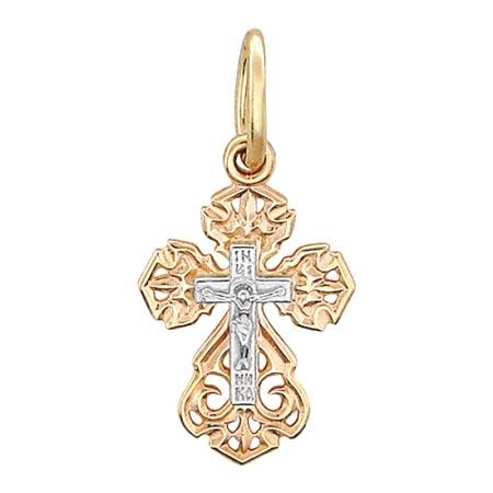 Крестик золотой нательный 01Р060736