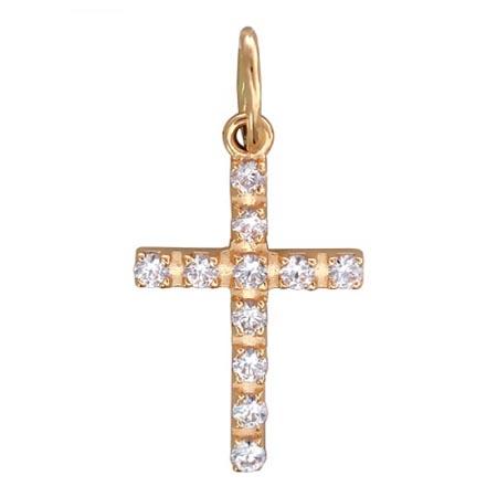 Подвеска крестик золотой 01Р110447