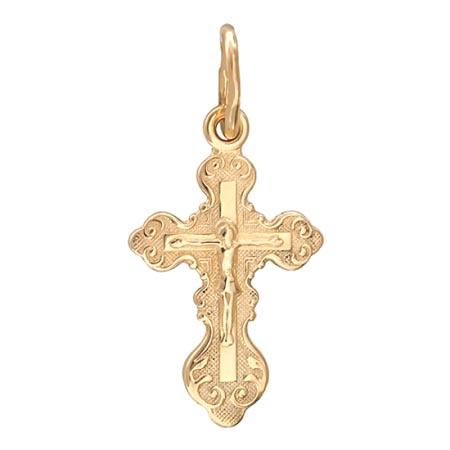 Подвеска крестик золотой 01Р010428