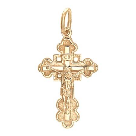 Подвеска крестик золотой 01Р010399