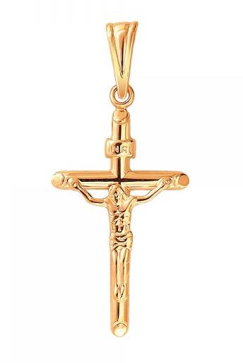Крест серебряный нательный 01Р050657А