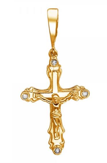 Крест серебряный нательный 01Р150607А