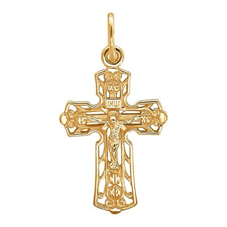 Крест серебряный нательный 01Р050825А