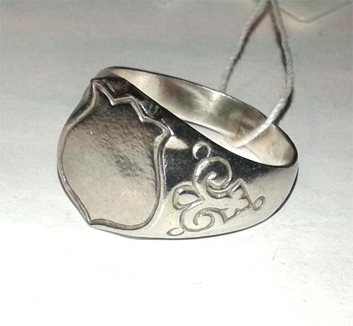 Серебряное кольцо Узор Утум  K021
