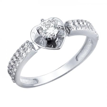 Кольцо из белого золота 01К1210977